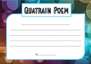 Quatrain poem - poetry