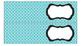 Quatrefoil Labels for 10-Drawer Organizer (Aqua and Black)