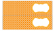 Quatrefoil Labels for 10-Drawer Organizer (Orange and Black)