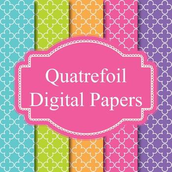 45 Quatrefoil Digital Papers