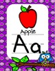 Quatrefoil Owl Alphabet