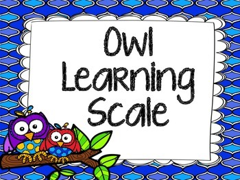 Quatrefoil Owl Marzano Learning Scale