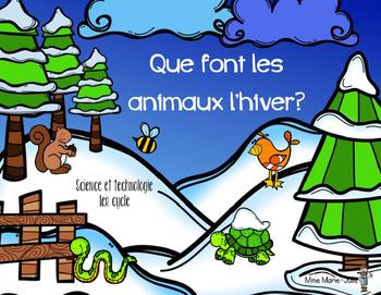 Que font les animaux l'hiver?