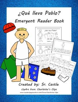 ¿Qué lleva Pablo? Easy Spanish clothing reader
