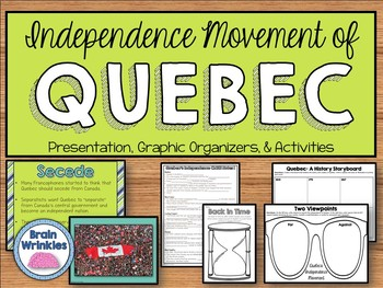 Quebec's Independence Movement - Interactive Notes & Activ