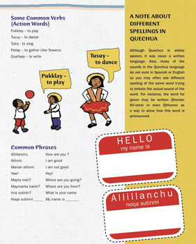 Quechua Language For Kids (Verbs, Common Phrases and Notes