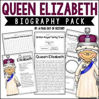 Queen Elizabeth Biography Pack (Women's History)