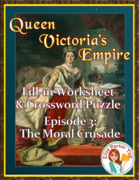 Queen Victoria's Empire Worksheet and Puzzle -- Episode 3: