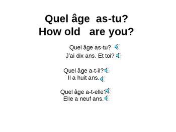 Quel âge as-tu? Unité 1 leçon 2C /Numbers