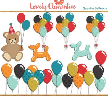 Quentin birthday clip art images, balloon clip art, party