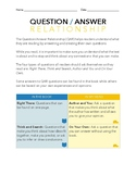 Question Answer Relationship (QAR) Worksheet