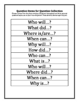 Question Collector Work Station Activity
