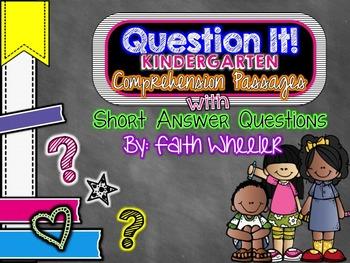 Question It! Kindergarten Comprehension Passages