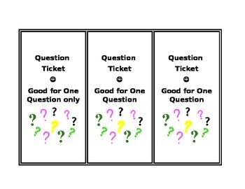 Question Limit Tickets - FREEBIE!