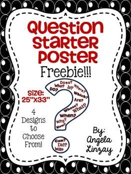 Question Starter Poster Freebie!!!