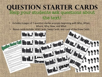 Question Starter Prompt Cards