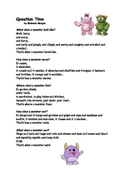 Question Time (a monster poem)