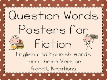 Question Words Posters with Spanish Question Words
