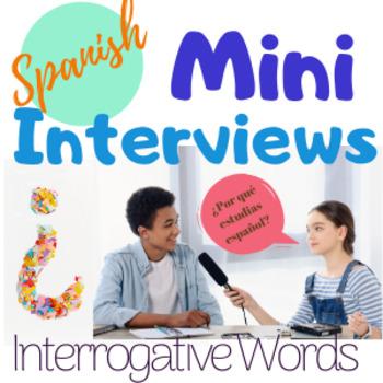 Spanish Interrogatives Speaking Activity Question Words Mi
