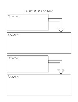 Question and Answer Graphic Organizer