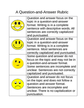 Question and Answer Rubric
