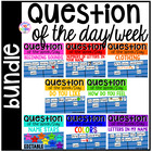 Question of the Day Bundle for Preschool, Pre-K, and Kindergarten