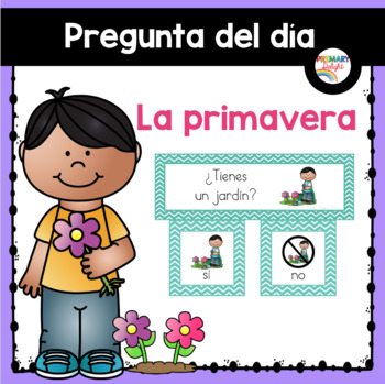 Spanish: Question of the Day for Beginning Readers - Sprin