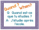 Question words posters for French