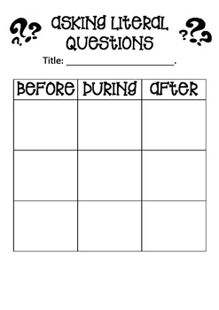Questioning Graphic Organiser