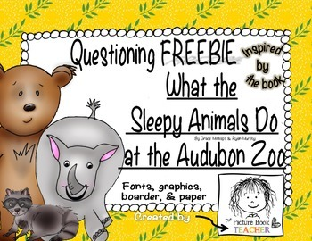 Questioning FREEBIE for What the Sleepy Animals Do in the