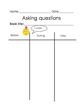 Questioning Graphic Organizer