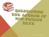Questioning the Author of Non-Fiction Text