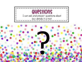 Questions {RL.1.1, RL.K.1, RL.2.1, RL.3.1} Common Core