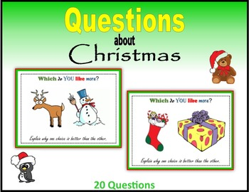 Questions about Christmas (Making Choices)