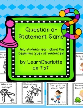 Types of Sentences- Questions and Statements Game and Lite