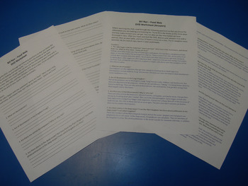 Handout/Questions for Bill Nye's Food Web DVD, w/ answers,