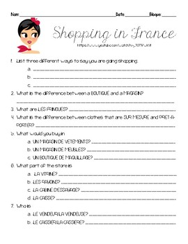 Questions for Comme une Française SHOPPING IN FRANCE video