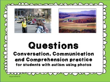 Questions, photos and communication practice for students