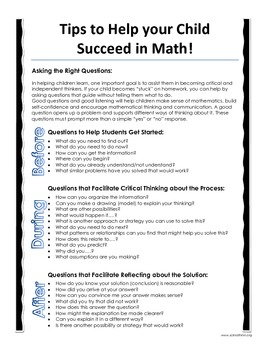 Questions to Ask and Homework Help Tips for Math