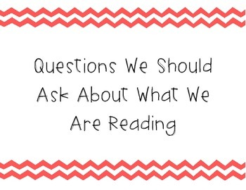 Questions we should ask about what we are reading posters