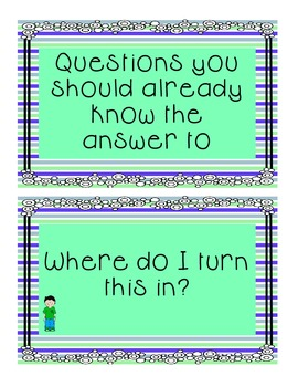 Questions you should know the answer to