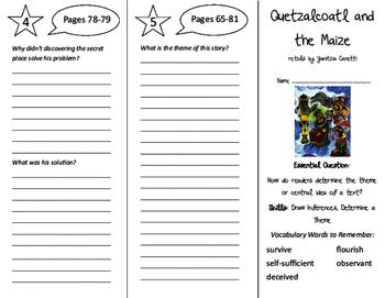Quetzalcoatl and the Maize Trifold - ReadyGen 6th Grade Un