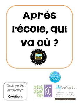 Qui va ou? Where do students go after school!