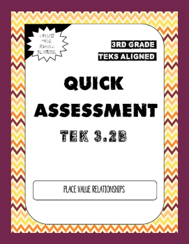 Quick Assessment 3.2B Describe Place Value Relationships