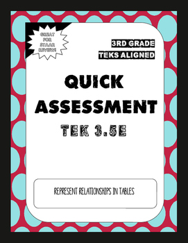 Quick Assessment 3.5E- Relationships in Tables