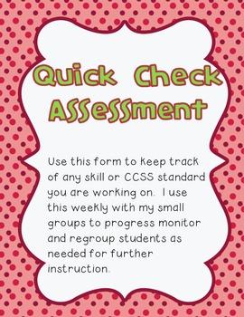 Quick Check Assessment