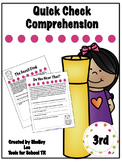 Quick Check Comprehension for 3rd