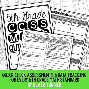 5th Grade Common Core Math Quick Checks