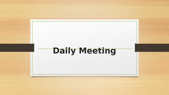 Quick Daily Meeting