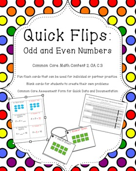 Quick Flips: Odd and Even Numbers Practice Cards
